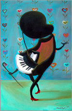 Wall sticker  Dancing Piano - Diego Manuel Rodriguez