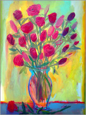 Wall sticker  Roses in glass vase - Diego Manuel Rodriguez