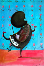 Wall Sticker  Happy piano - Diego Manuel Rodriguez