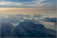 Wall sticker  Zugspitze in the haze - Denis Feiner