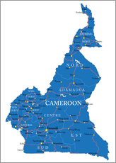 Wall sticker Map Cameroon