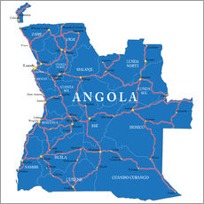 Wall sticker map Angola