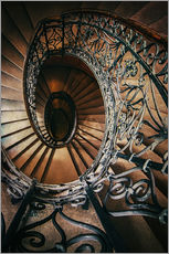 Wall Sticker  Spiral staircase with ornamented handrail - Jaroslaw Blaminsky