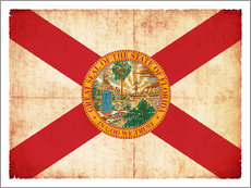 Wall sticker  Vintage Flag of Florida in grunge style - Christian Müringer