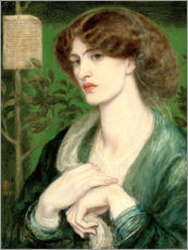 Gallery print  The Salutation of Beatrice - Dante Charles Gabriel Rossetti
