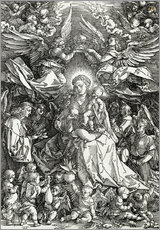 Wall Stickers  The Virgin and Child surrounded by angels - Albrecht Dürer