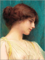 Gallery Print  Study of a Girl's Head - John William Godward