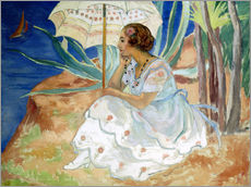 Wall sticker  Young woman with an Umbrella, Saint Maxime - Henri Lebasque