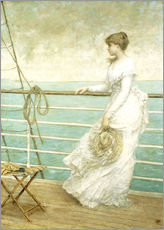 Gallery print  Lady on the Deck of a Ship - French School