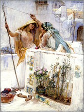 Wall sticker  The Neighbours, Terraces of Algiers - Frederick Arthur Bridgman