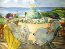 Wall sticker  Two Young Women on a Terrace by the Sea - Henri Lebasque