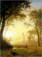 Wall sticker  Sunlit glade - Albert Bierstadt