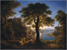 Gallery print  Castle on the River - Karl Friedrich Schinkel