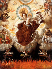 Wall sticker  Madonna of the Carmelites - Gaspar Miguel de Berrio