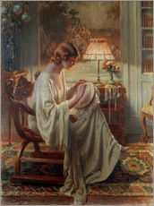 Wall sticker  A Lady Sewing in an Interior - Delphin Enjolras