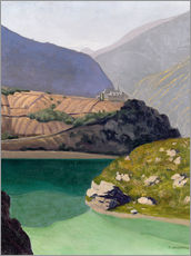 Wall sticker  Lake Geronde, Sierre - Felix Edouard Vallotton