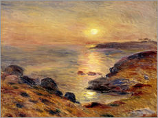 Wall sticker  The Setting of the Sun at Douarnenez - Pierre-Auguste Renoir