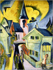 Gallery print  Konigstein with Red Church - Ernst Ludwig Kirchner