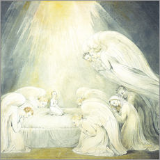 Wall sticker  The Infant Jesus Saying His Prayers - William Blake