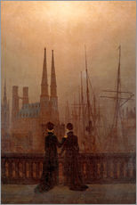 Gallery print  Night port - Caspar David Friedrich
