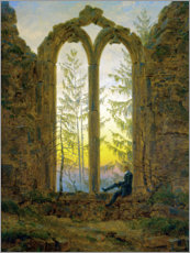 Canvas print  The Dreamer - Caspar David Friedrich