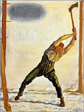 Wall sticker  The Woodcutter - Ferdinand Hodler