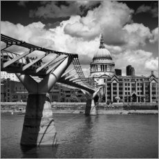 Wall sticker LONDON Millennium Bridge and St Paul's Cathedral