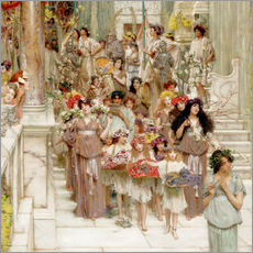 Wall sticker  Spring (detail) - Lawrence Alma-Tadema