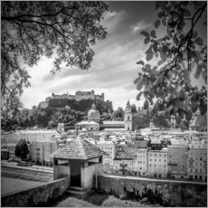Wall sticker SALZBURG Gorgeous Old Town with Citywall | Monochrome