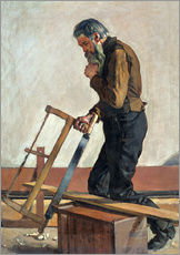 Wall sticker  Philosophising Workman - Ferdinand Hodler