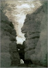 Wall sticker  Rock gate Uttenwalder Grund - Caspar David Friedrich