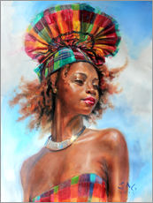 Gallery print  wenia with fanhat 1 - Jonathan Guy-Gladding