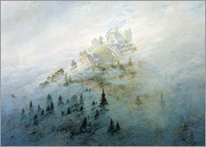 Wall sticker  Morning mist in mountains - Caspar David Friedrich