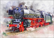 Peter Roder - Train Locomotive Deutsche Reichsbahn for the express service class 01