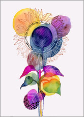 Wall sticker  Sunflower abstract - Janet Broxon