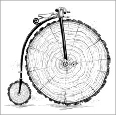Gallery print  Wooden bicycle - Nikita Korenkov