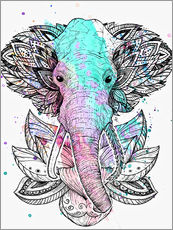 Wall sticker Elephant in the lotus