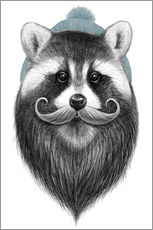 Gallery print  Bearded raccoon - Nikita Korenkov