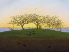 Wall sticker  Hill with plowed field - Caspar David Friedrich