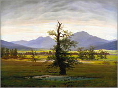 Wall sticker  The lonesome tree - Caspar David Friedrich