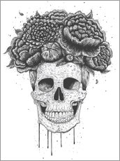 Gallery print  Skull with flowers - Valeriya Korenkova