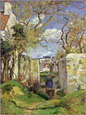 Wall sticker  Peasant with Wheelbarr - Camille Pissarro