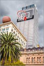 Gallery print  Basketball hoop on skyscraper - James Popsys