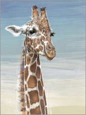 Wall Stickers  Giraffe Against A Blue Sky - Ashley Verkamp