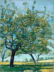 Gallery Print  Paddock with apple trees - Ferdinand Hodler
