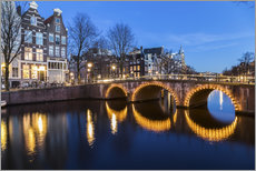 Gallery print  Amsterdam Bridges at night - Mike Clegg Photography