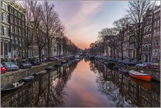 Wall sticker  Amsterdam Canals at Sunrise - Mike Clegg Photography