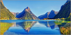 Gallery print  Milford Sound Mitre Peak Reflection New Zealand - Michael Rucker