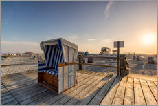 Gallery print  Beach chair holiday on the North Sea coast - Dennis Stracke