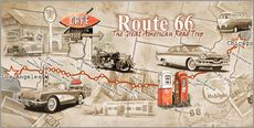 Wall sticker Route 66 Map